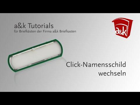 a&k Briefkasten Tutorials - Click-Namensschild wechseln