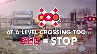 At a level crossing too... Red = STOP