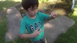 Micro-Fishing a Run Off for Creek Chubs ft. my Nephew Kurt (Feasterville-Trevose, PA)
