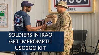 Deployed Soldiers In Iraq Surprised With USO Care Packages, Games And Treats