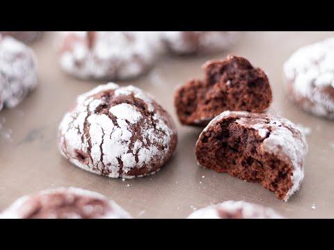 濃厚的糖粉巧克力餅乾