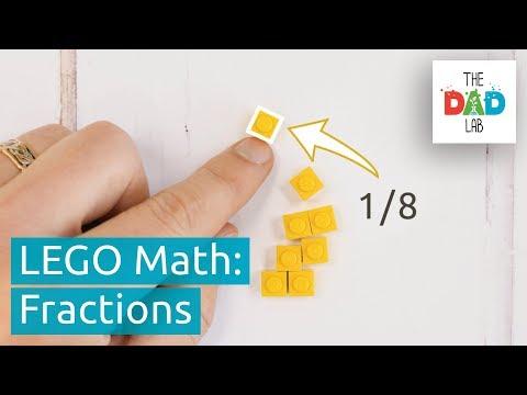 Screenshot of video: Lego making fractions easy