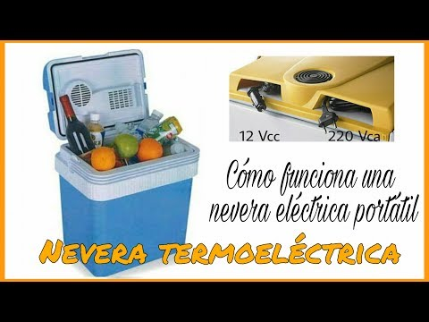 CÓMO FUNCIONA UNA NEVERA ELÉCTRICA PORTÁTIL (NEVERA TERMOELÉCTRICA)