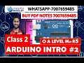 M4-R5 Arduino introduction class #2 | Hindi English o level notes internet of things new syllabus