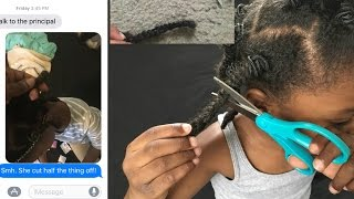 DAUGHTER CUT OFF HER NATURAL HAIR PRANK! MOM CRIES!