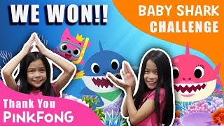 WE WON BABY SHARK CHALLENGE!! [PINKFONG]