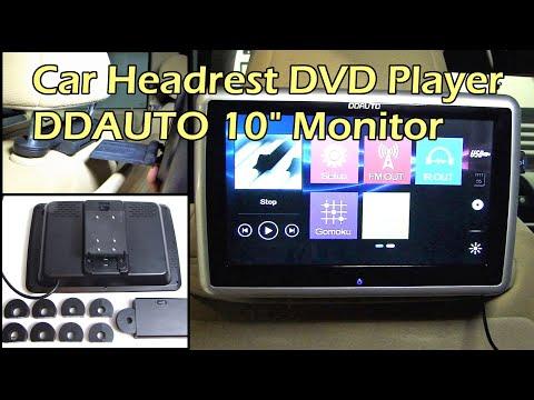 """DDAUTO 10.1"""" Touchscreen Headrest DVD / USB / SD Player"""