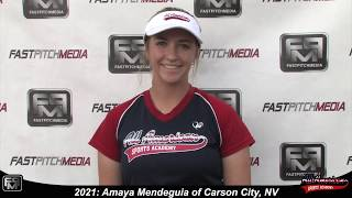 2021 Amaya Mendeguia Power Hitting 3rd Base and First Base Softball Skills Video