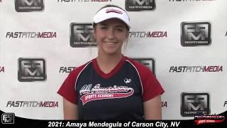 2021 Amaya Mendeguia Power Hitting 3rd Base and First Base Softball Skills Video