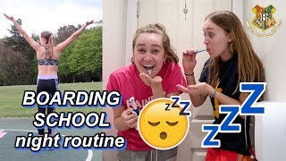 boarding school night routine
