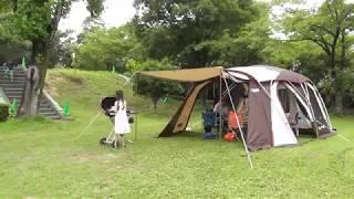 初めてのデイキャンプ★初めての設営 コールマン コクーン2