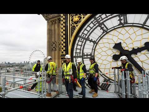 Here's A Close Up View of the Restoration of the Big Ben