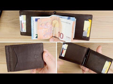 """Slim Wallet aus Leder mit Geldklammer und RFID Schutz! Travando """"Lyon"""" // Review & Test// DEUTSCH"""