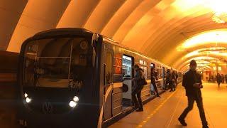 """Два Метро-Поезда """"Номерной-Пришелец"""" (81-717.5П)"""
