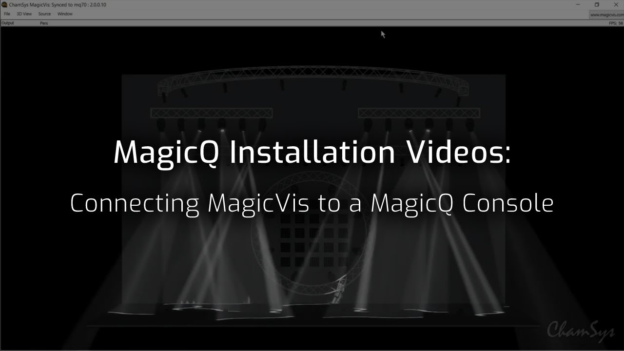 Connecting MagicVis to a MagicQ Console