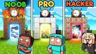 Minecraft - TIME MACHINE! (NOOB vs PRO vs HACKER)