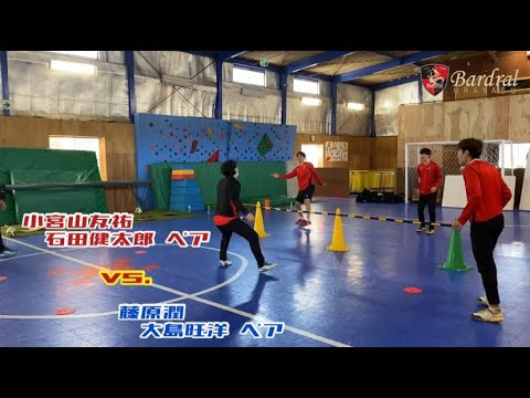 アジリティテニス対決!小宮山・石田ペア vs. 藤原・大島ペア