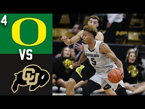 2020 College Basketball #4 Oregon vs Colorado Highlights