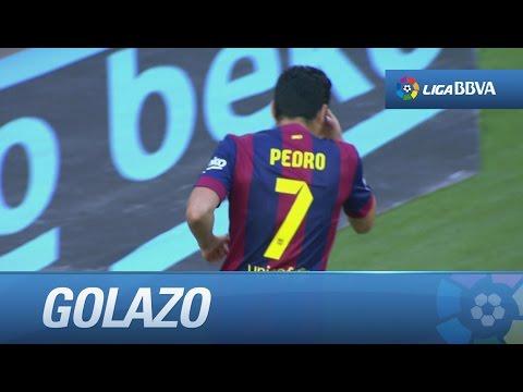 Golazo de chilena de Pedro (2-0) en el FC Barcelona - Real Sociedad