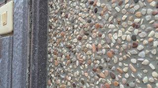 Красивенная штукатурка для фасада своими руками, с камнями и под камень. Декоративная штукатурка