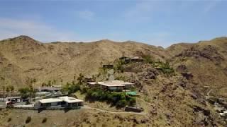 Drone Video: Flying along a ridgeline in Palm Springs