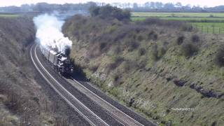 preview picture of video '(HD)Fastest steam journey ever Bristol-Paddington non-stopTHE BRISTOLIAN returns5043'