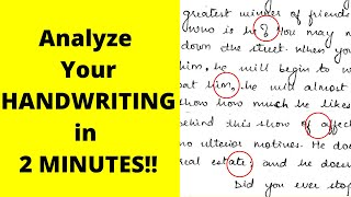 Personality Test: What does your Handwriting say about You | Handwriting Analysis
