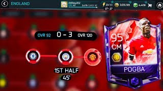 HOW TO GET 90 POGBA ENGLAND CAMPAIGN MASTER-Toughest MATCHES Gameplay(0-3 vs 120 OVR)-Fifa mobile S2