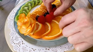 Fruit Platter | Delicious Fruit Sliced | Fruit & Vegetable Carving Lessons