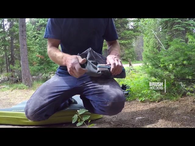 Видео Большой мешочек для магнезии Black Diamond Mondo Chalk Pot REPO Blue