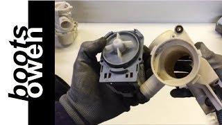 A look inside a washing machine pump