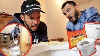 Fixing a Toilet with Ramen Noodles! (DIY FAIL)