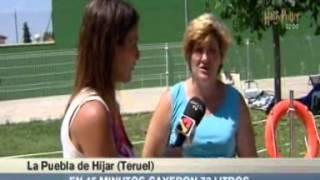 preview picture of video 'Gran tromba de agua en la Puebla de Híjar en Teruel'