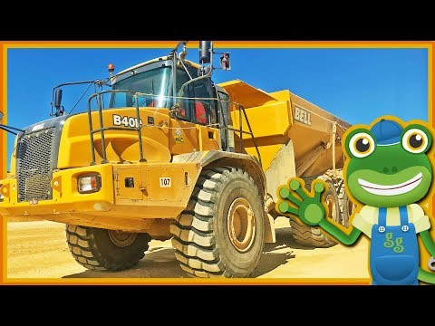 Dump Trucks For Children | Gecko's Real Vehicles