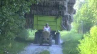 Mini Doser lánctalpas traktor TL30 szalmahordás Jászszentlászló