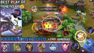 KARRIE TANK BUILD😂 | BEST PLAY OF THE YEAR😂 | MOBILE LEGENDS