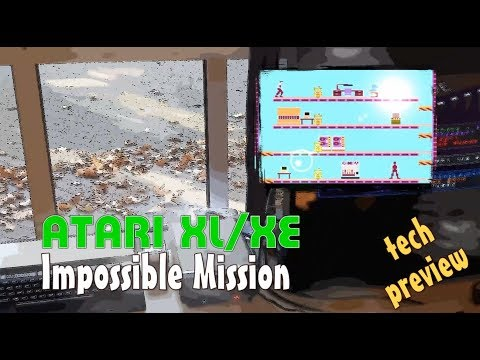 Atari XL/XE -=Impossible Mission=- tech preview