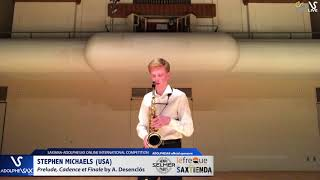 Stephen MICHAELS plays Prelude, cadence et finale by A. Desenclos #adolphesax