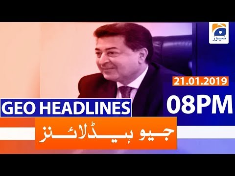 Geo Headlines 08 PM | 21st January 2020