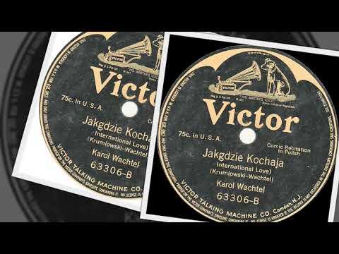 Polish 78rpm recordings, 1911. VICTOR 63306. Głowa / Jak gdzie kochają