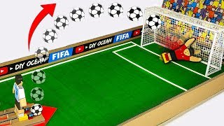 How to make Football Penalty Board GAME from Cardboard DIY at HOME
