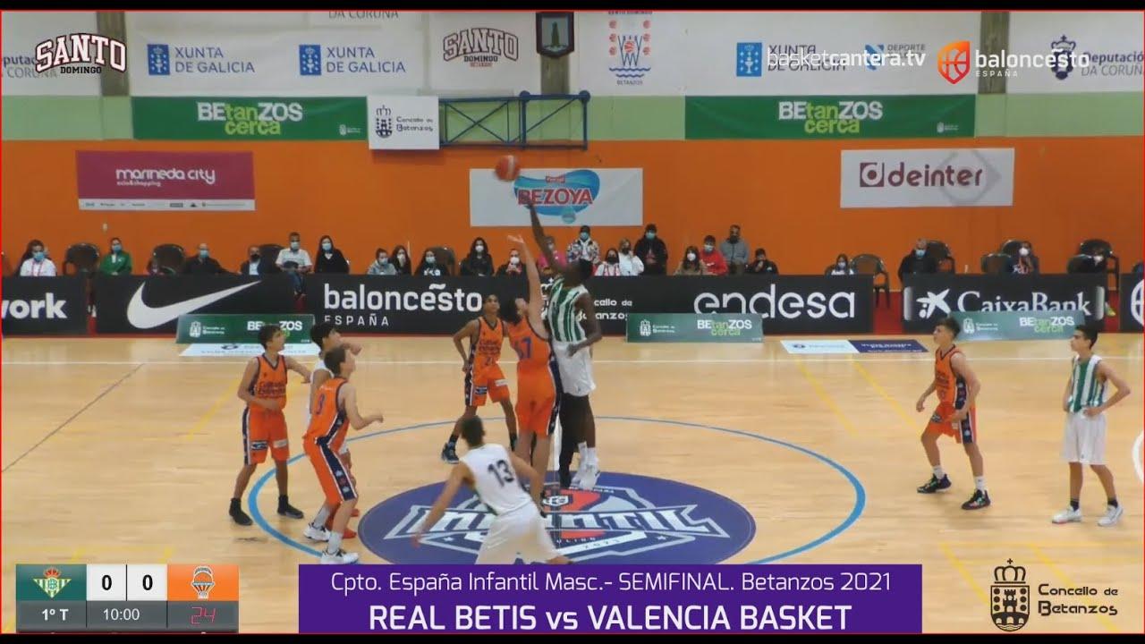 U14M - Semifinal REAL BETIS vs VALENCIA BASKET.- Cpto. de España Infantil Masc. FEB-Betanzos 2021