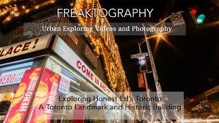 Urban Exploring Video in Torontos Historic Honest Ed's LONG VIDEO
