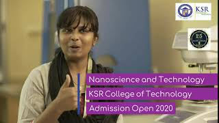 KSR College of Technology -B.Tech Nano Science & Technology- Testimonial