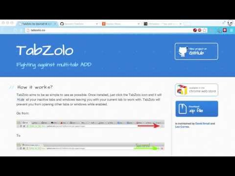 TabZolo Keeps You Focused On Just One Tab