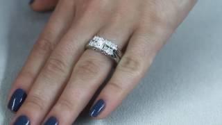 Princess Cut Diamond 1.80 Ct 14K Gold Matching Bridal Ring Set Engagement Band