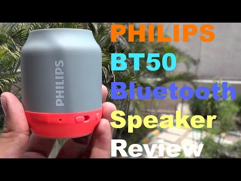 Philips BT50 Bluetooth Speaker Review and Sound Test