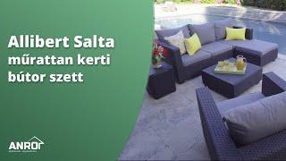 Allibert Salta műrattan kerti bútor szett - bemutató és szerelés