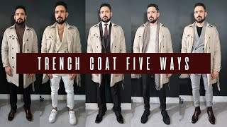 How To Wear A Trench Coat 5 Ways | Mens Style & Fashion Lookbook
