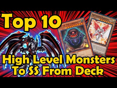 Top 10 Best High Level Monsters to Special Summon From the Deck in YuGiOh